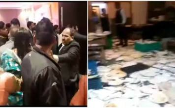 Not Happy With Food, Guest Started To Fight With The Hotel Staff