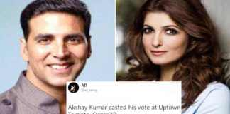 Twitter is curious as Akshay Kumar was missing on Voting day