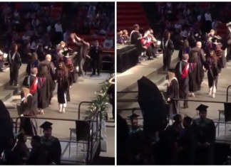 Viral Video: Graduation Ceremony, Back-flip Fails