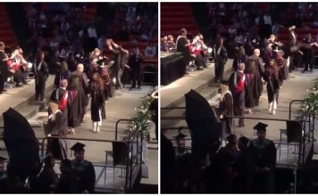 Viral Video: Graduation Ceremony, Back-flip Fails