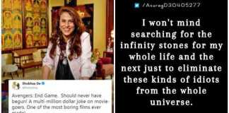 Shobhaa De Calls Endgame boring, Roasted on Twitter