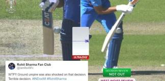 3rd Umpire Controversial Rohit Sharma Dismissal