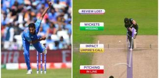 India lost review 1st ball against NZ