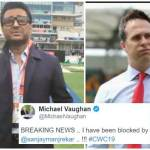 Sanjay Manjrekar Blocks Michael Vaughan