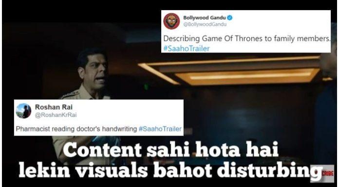 Saaho Trailer Memes