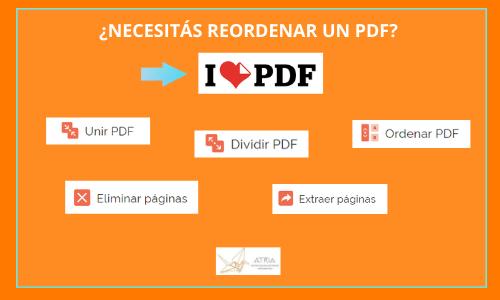 Recomendado: «I love PDF» – Herramientas para ordenar un PDF