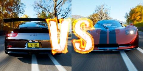 Forza Horizon 4: Mosler MT900S VS Porsche 911 GT3 RS PO