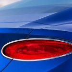 Bentley Continental GT review (2019): Rear light and chrome surround up close