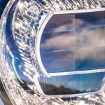 Bentley Continental GT review (2019): Up close of the crystal headlight pattern