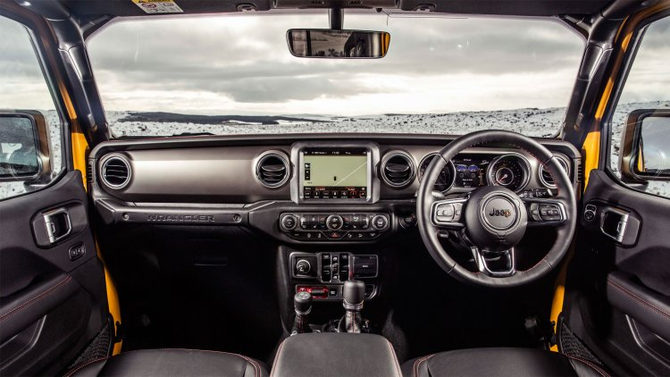 Jeep Wrangler 2019 review: Interior with Apple CarPlay and Android Auto