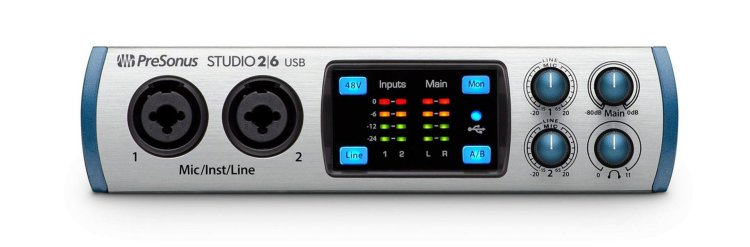 Presonus Studio 2|6 audio interface (front)
