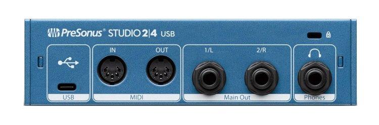Presonus Studio 2|6 audio interface (rear)