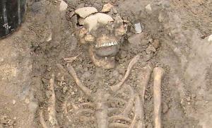 """Zombie"" skeleton. Photo (c) Chris Read"