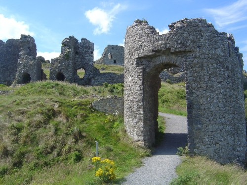 "The Rock of Dunamase, which provides part of the location for ""Ballycarbery Castle"" in the film Leap Year."