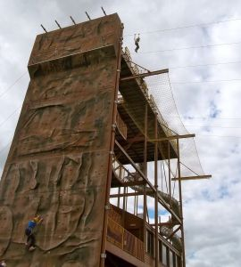 Climbing Wall and Zipline