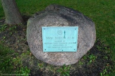 Location of the famous Van Buren Elm