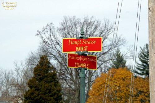 All street signs in German.