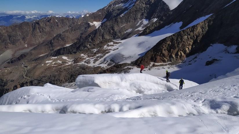 Por el glaciar