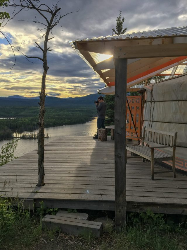Finding locations to stay like this on Airbnb, a great travel resource, will ensure you have a peaceful view to the lake from your yurt