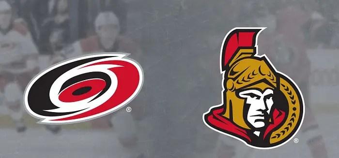 Ottawa Senators at Carolina Hurricanes Betting Pick & Prediction 11/11/19