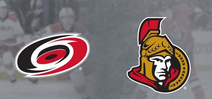 Ottawa Senators at Carolina Hurricanes