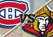 Ottawa Senators at Montreal Canadiens
