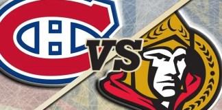 Ottawa Senators at Montreal Canadiens