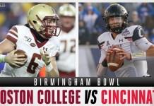 Boston College Eagles vs Cincinnati Bearcats - Birmingham Bowl