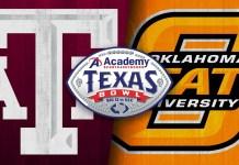 Oklahoma State Cowboys vs Texas A&M Aggies