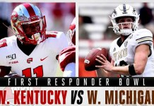 Western Michigan Broncos vs Western Kentucky Hilltoppers - First Responders Bowl