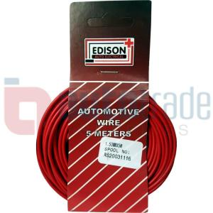 AUTO CABLE 1.5mm (5mtr-RED)