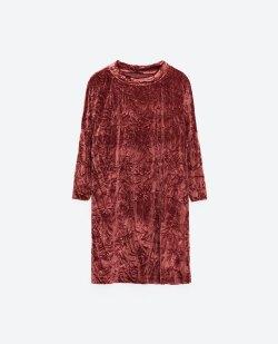 robe en velour ZARA