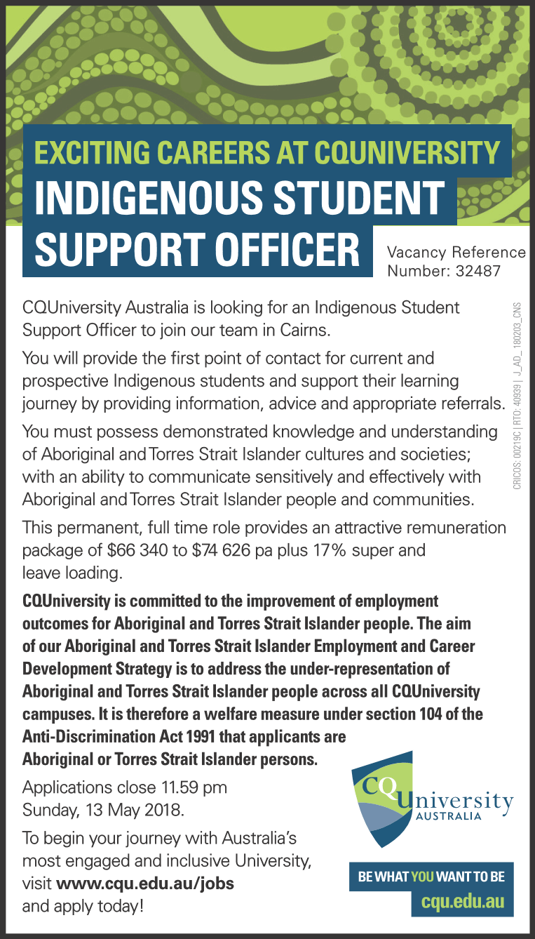 Indigenous Student Support Officer Indigenous Employment