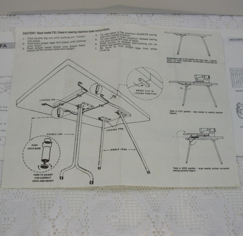 Original Necchi Sewing Machine Instruction/Owners Manual