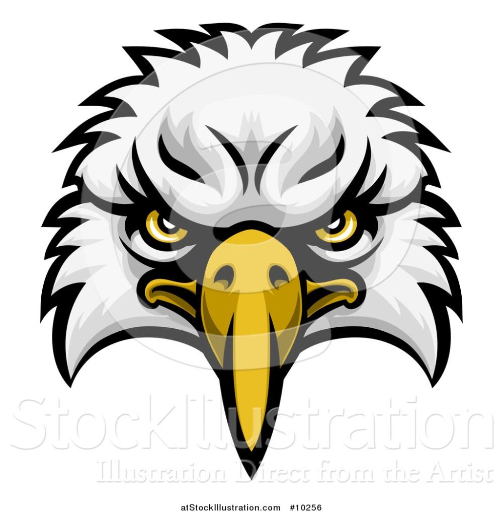 medium resolution of vector illustration of a bald eagle mascot face