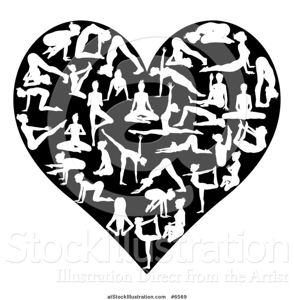 Vector Illustration Of A Heart Made Of White Silhouetted