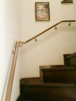 階段の手すり取り付け