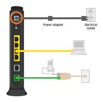 uverse house wiring diagram light fixture deutsch black power adapter