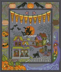 Halloween Village Afghan from Stoney Creek Collection ...