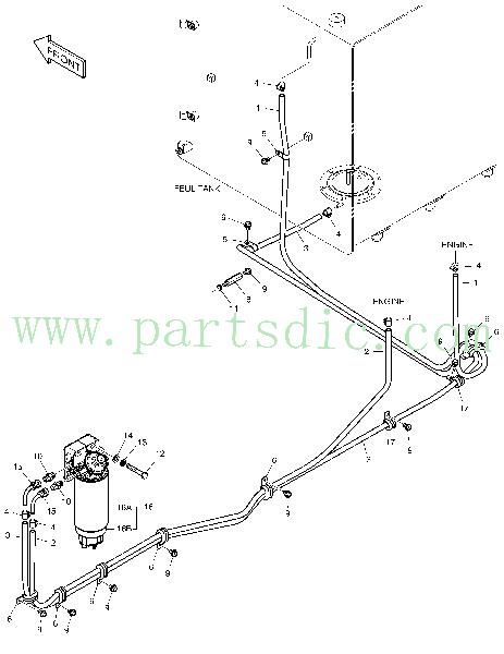 DooSan Excavator DX300LCA Filter Ass'y Pre Fuel K1006519