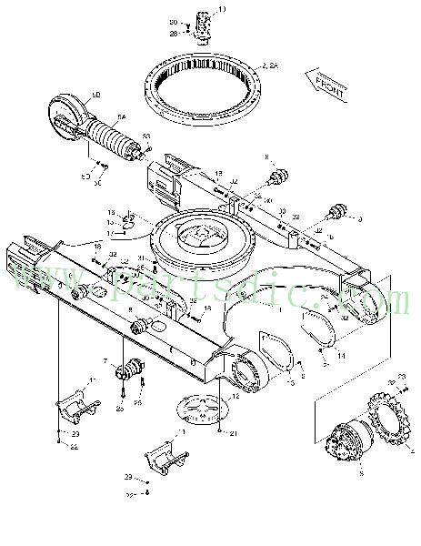 Roller Lower K1008896 Spare Parts(Fits For DooSan SOLAR