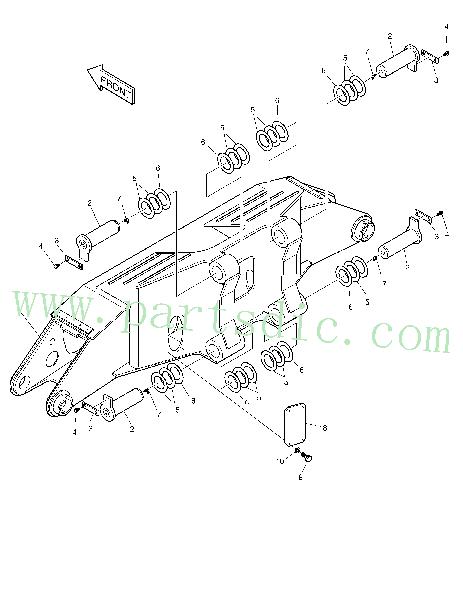 DooSan Excavator SOLAR 210W-V Frame Outrigger K1008030
