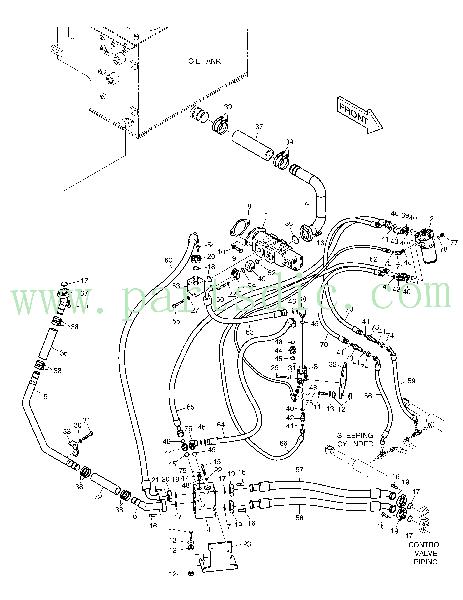 DooSan Wheel Loader DL200TC Pipe Return K1017123