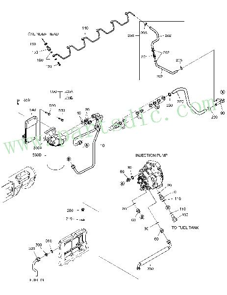 DooSan Wheel Loader DL300 Adapter 65.98130-0154(Ø20X30