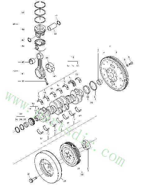 Crank Shaft *NA00412 Spare Parts(Suitable For DooSan DL400