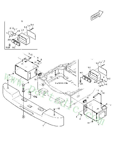 Wholesale DooSan Wheel Loader DL420 Box Battery K1011626A