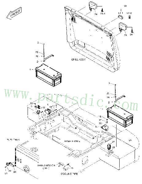 DooSan Wheel Loader DL420 Battery 300101-00050 Replacement