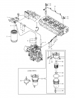 Filter Fuel K1033222 Replacement Parts(Fits For DooSan