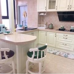 Kitchen Updates Ceramic Or Porcelain Tile For Floor 厨房大更新美式小清新厨房装修收纳分享 装修经验 装修大本营 19楼家居 收藏