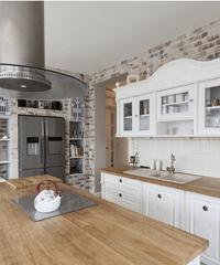 kitchen deco paint or stain cabinets 厨房装饰 效果图片 风格设计图 家居装修设计 19楼 厨房装饰要点你知道吗